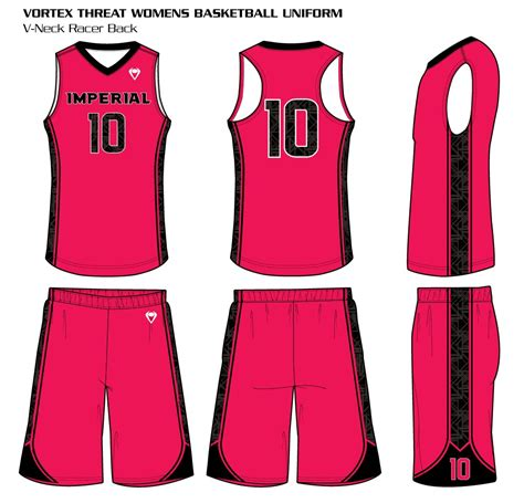 vortex womens sublimated basketball uniform custom uniforms