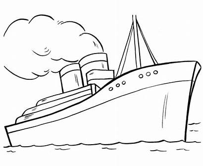 Transportation Coloring Pages Ship Clip Library Clipart