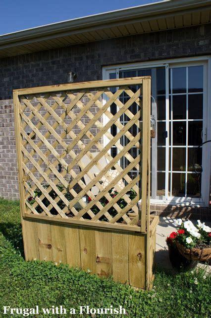 build  lattice planter box planter boxes