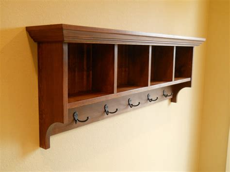 cubby shelf with hooks cubby shelfmud room shelf wood cubby cubby storage cubby