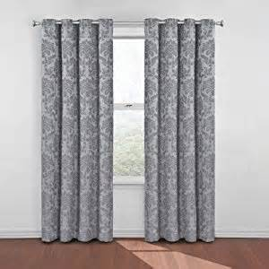 amazon com eclipse daria damask blackout window curtain