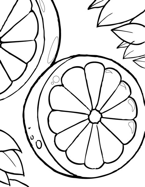 oranges coloring pages learn  coloring