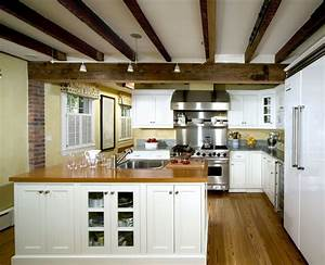 faux-ceiling-beams-Kitchen-Traditional-with-ceiling