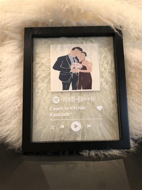 custom spotify glass frame art spotify song poster custom
