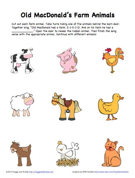 peek  boo farm animals activity  printable farm