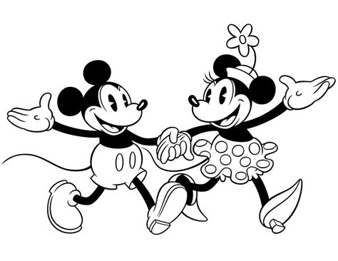 Disney Kleurplaat 1600 by Colour Drawing Free Hd Wallpapers Mickey Mouse And Minnie