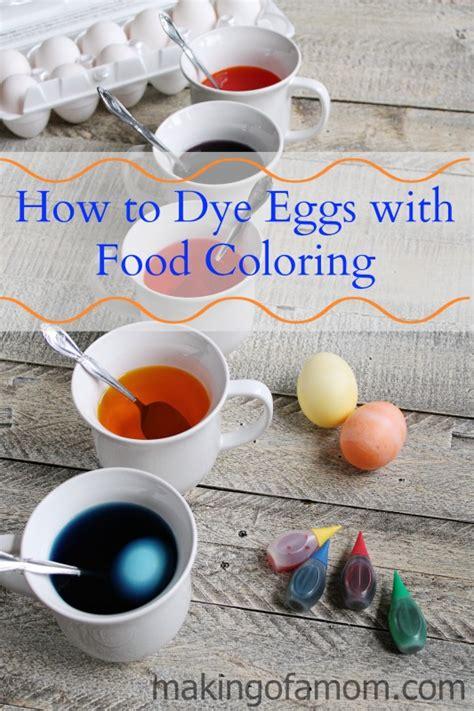 dye easter eggs  food coloring