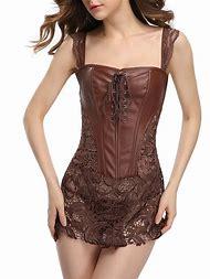 Leather Lace Corset Dress