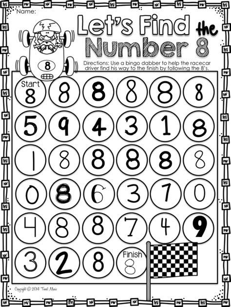preschool math    number  worksheets