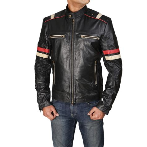 moto biker jacket cafe racer retro moto men 39 s biker vintage distressed