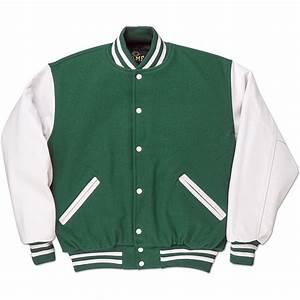 green white standard letterman jacket standard jackets With letterman letters
