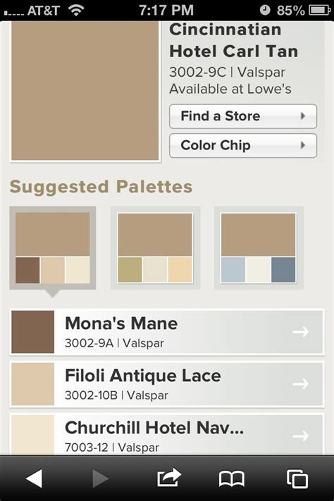 Kitchen Rehab Ideas - cincinnatian hotel carl tan from valspar suggested palettes paint colors pinterest