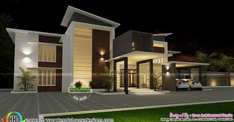 villa plan  contemporary style kerala home design