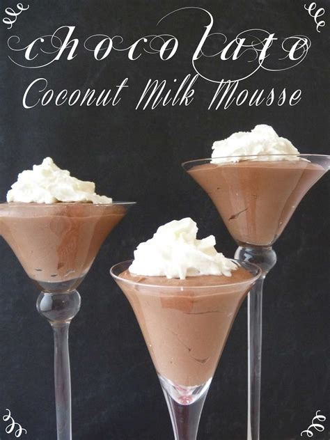 chocolate coconut milk mousse   pinterest