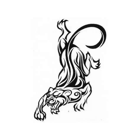 black  white animals tribal temporary tattoos