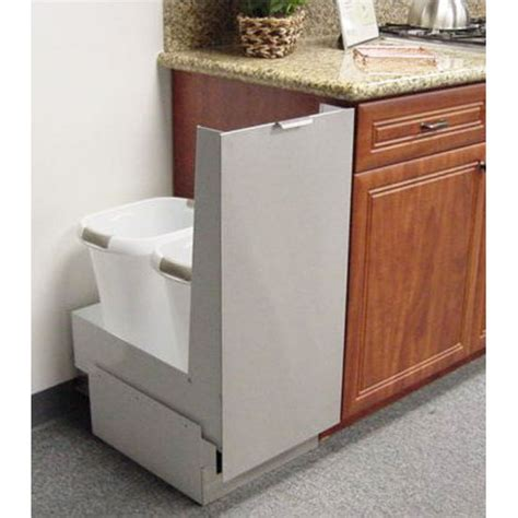 cabinet trash can trash cans trash or recycling cabinet with trash cans by