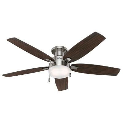 low profile ceiling fan home depot canada duncan 52 in indoor brushed nickel ceiling fan