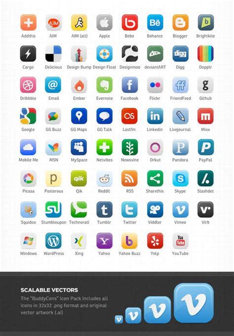 social media icons  names social media packages