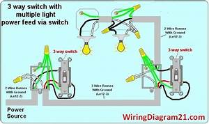3 Way Switch Wiring Diagram Multiple Light Double