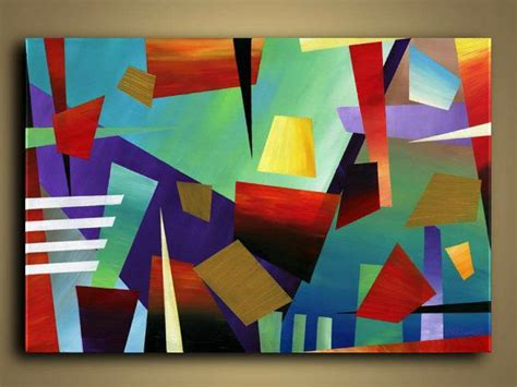 Abstract Painting Using Shapes by A Beautiful Contemporary Abstract Original Painting Every