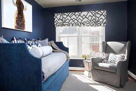 gray  blue boys bedroom  gray wingback glider
