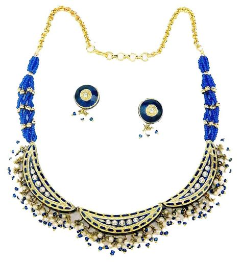 indian lac costume jewellery enamel fashion necklaces