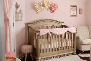 Soft Pink Gold And Ivory Shabby Chic Nursery Project