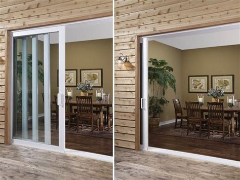 sliding glass doors that slide into the wall