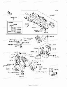 Kawasaki Motorcycle 2009 Oem Parts Diagram For Chassis