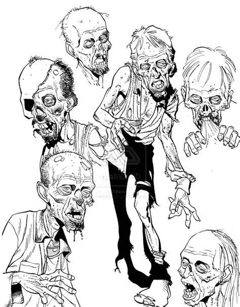 Cartoon Zombie Sketch Stuff Coloring Page | Zombie cartoon