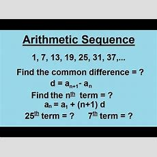 Algebra  Sequences And Series (2 Of 6) Arithmetic Sequence Youtube