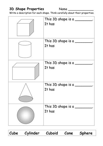 what am i naming 3d shapes by miss mac teaching resources