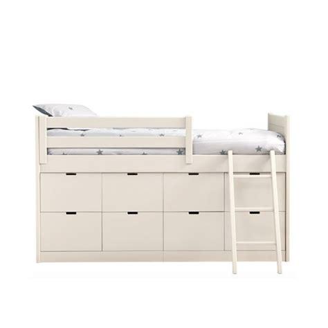 chambres de bebe lit enfants juniors avec 8 tiroirs de rangement liso block