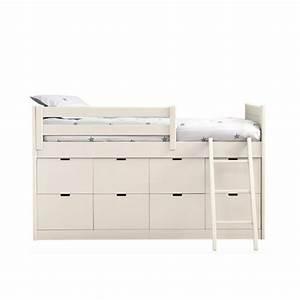 Lit enfants juniors avec 8 tiroirs de rangement liso block for Nettoyage tapis avec canapé avec tiroir lit