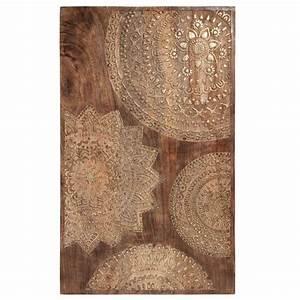 Tableau Maison Du Monde : geschnitztes bild aus holz 50 x 82 cm mandala maisons du monde ~ Teatrodelosmanantiales.com Idées de Décoration