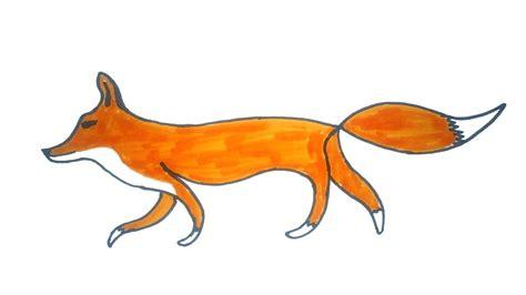 fox drawing   draw  easy fox easy step  step