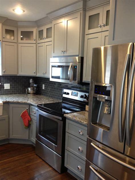 grey shaker cabinets kitchen my kitchen project finally done love my gray shaker