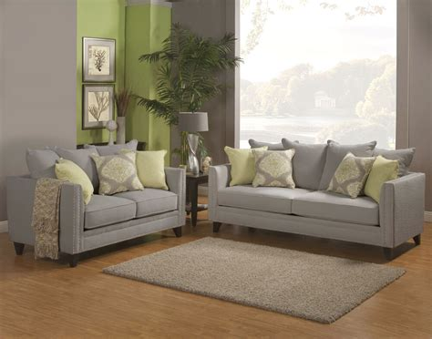 Fabric Loveseats by Beautiful Mineral Gray Chenille Fabric Sofa