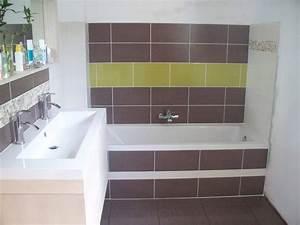 beautiful faience vert et blanc images design trends With faience salle de bain blanc