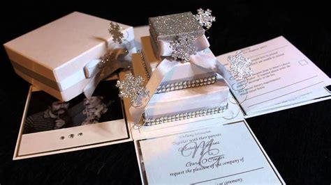 snowflake exploding box wedding invitation youtube
