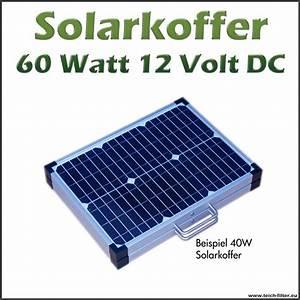 Solar Inselanlage Berechnen : solarkoffer 60 watt 12 volt monokristallin f r wohnmobil ~ Themetempest.com Abrechnung
