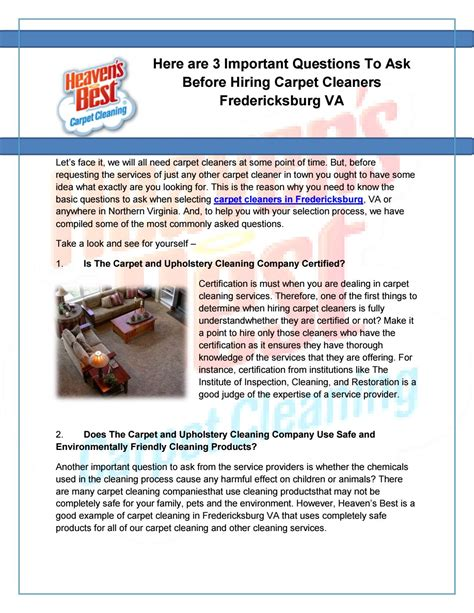 Here Are 3 Important Questions To Ask Before Hiring Carpet