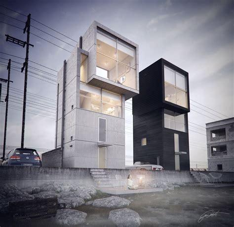 ando 4x4 house by juan delgado architecture 3d cgsociety интересные идеи