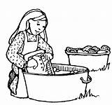 Pioneer Coloring Children Lds Clipart Template Laundry sketch template