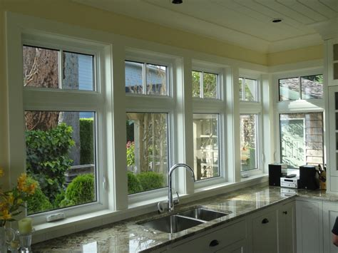 crankout casement window  transom traditional kitchen vancouver  complete windows