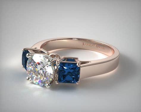 stone princess shaped blue sapphire