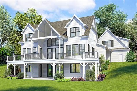 Plan 23771JD: Striking 4 Bed Farmhouse Plan with Walk Out