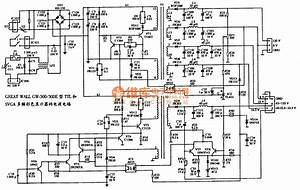 The Power Supply Circuit Diagram Of Great Wall Gw 500e