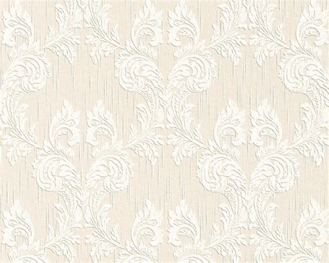 classic baroque wallpaper  cream  beige design  bd
