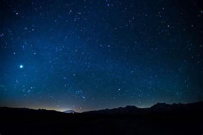 Sky Night Stars Landscape Hill Space Silhouette